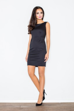 9027450439d Figl – Puzdrové čierne nadčasové koktejlové šaty M079
