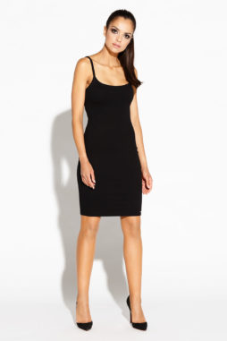 ROXET čierne úpletové šaty na ramienka (5)